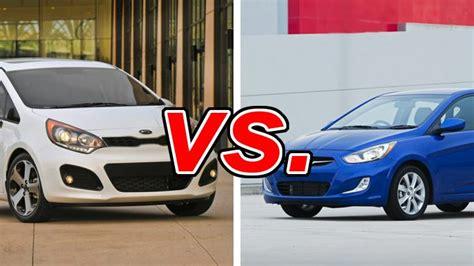 Hyundai Accent Vs Kia Kia Vs Hyundai Accent Carsdirect