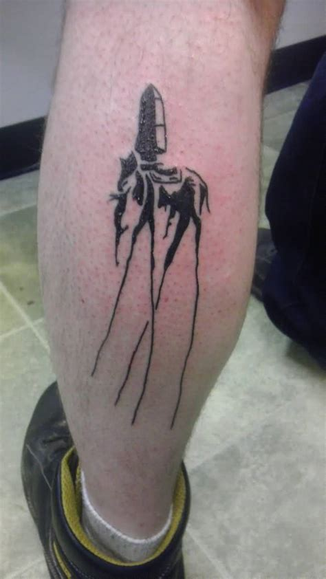 dali elephant tattoo black and grey dali elephant on leg calf