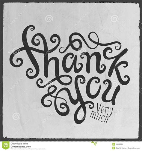 Handmade Lettering - thank you lettering stock vector image 39869985