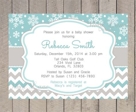 winter baby shower invitations pink peach floral bouquet baby its