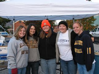 allegheny college softball  harvest food drive