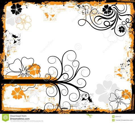 floral grunge frame elements royalty free vector image grunge floral frame vector royalty free stock photography image 2204727