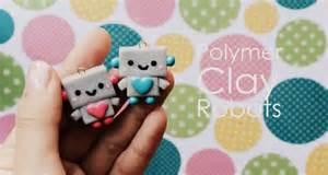 Polymer Clay Christmas Crafts - polymerclay tutorial kawaii robot xodonna