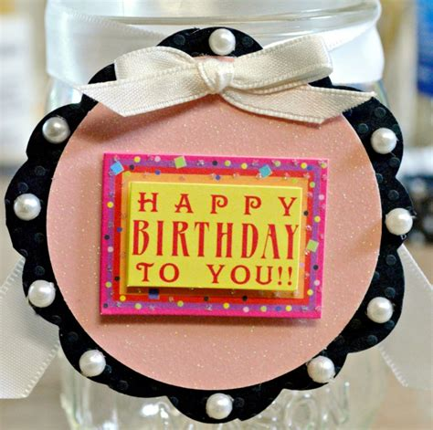 Cute Ways To Give A Gift Card - birthday quot cupcake quot mason jar a cute fun way to give cash or a gift card at little
