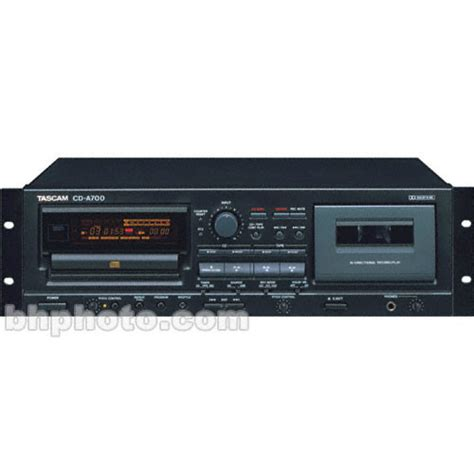 cassette and cd player tascam cd a700 combination cd player and cassette cd a700 b h