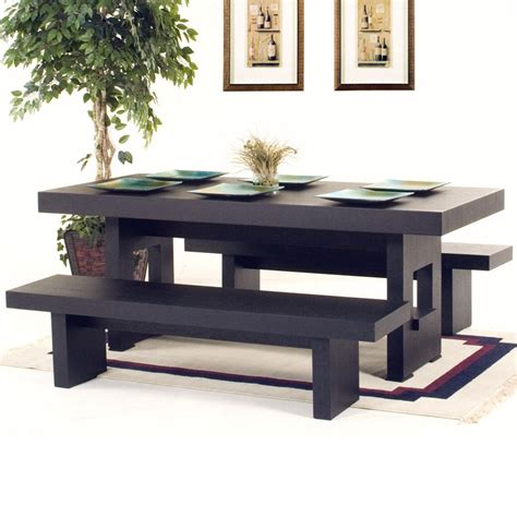 rectangle table with bench inch rectangle dining table with two benches dining tables