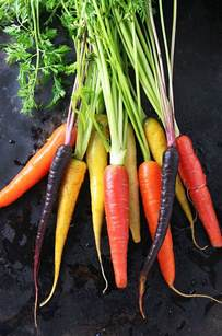 colorful carrots whole roasted carrots with wine vinegar and fresh thyme