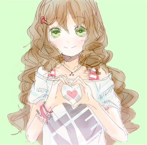 anime curly hair drawings of girls with curly hair google search cute