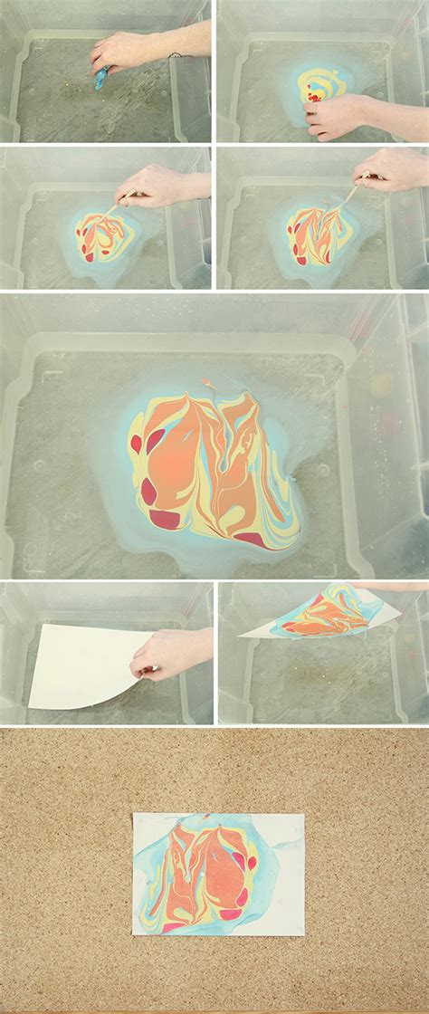 Marbled Paper Craft For - diy marbled paper diy and crafts