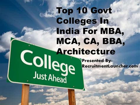 Top College For Mba In Marketing In India by Top 10 Govt Colleges In India For Mba Mca Ca Bba