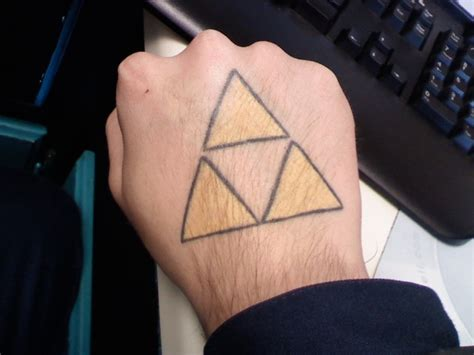 triforce tattoos my triforce by jellgeta on deviantart