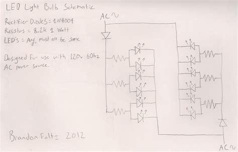 led light bulb circuit mains operated led light circuit