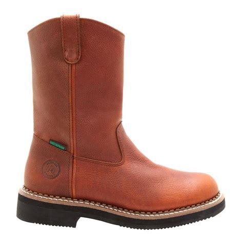 mens 12 inch waterproof wellington pull on work boots