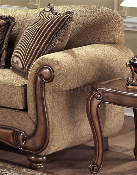 throw pillows for tan couch tan fabric traditional sofa loveseat set w throw pillows
