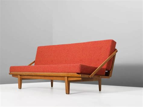 scandinavian sofa bed scandinavian sofa bed in oak and multicolored orange