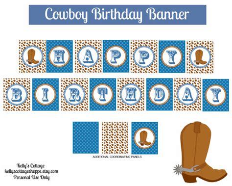 free printable western birthday banner 8 best images of cowboy birthday banner free printables