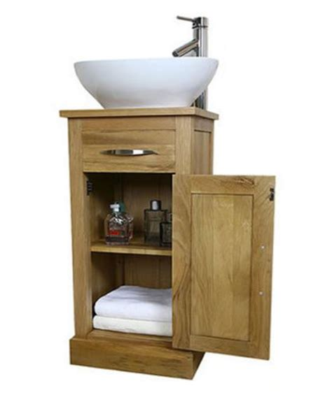 Small Vanity Units For Bathroom Solid Light Oak Bathroom Vanity Unit Small Cloakroom Sink Vanities Su