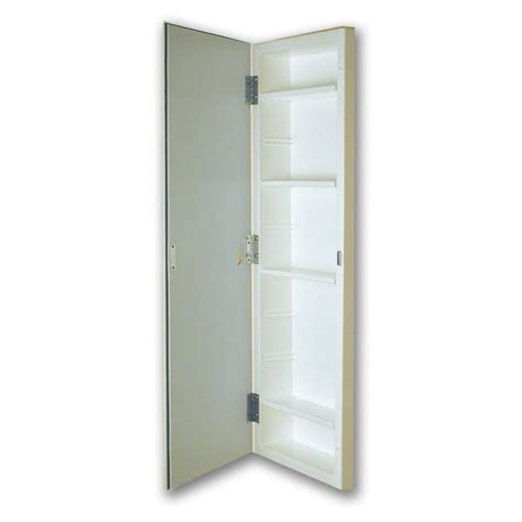 Recessed Bathroom Cabinets For Storage Shop American Pride 12 In X 36 In Rectangle Recessed Mirrored Plastic Medicine Cabinet At Lowes