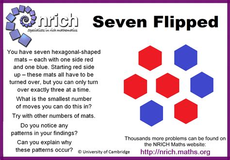 pattern recognition nrich seven flipped youcubed