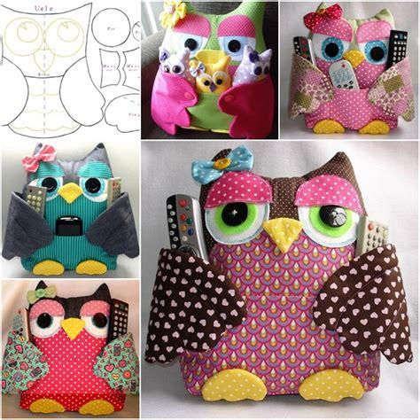 Patchwork Owl Pattern - 10 gufi di stoffa fai da te cartamodelli e tutorial cucito