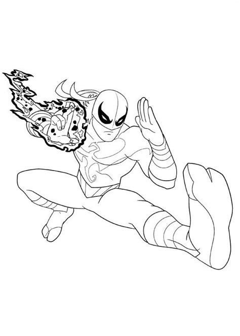 iron spider coloring pages easy coloring pages