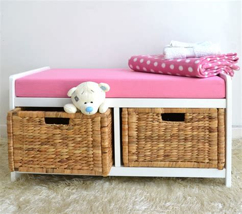 small bench with cushion small pink storage bench with cushion building a