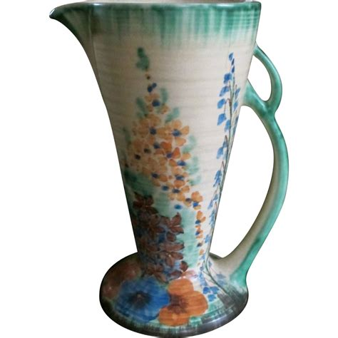deco flaxman ware wade heath lovely floral vase sold