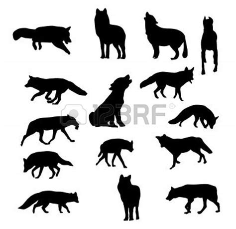 wolf silhouette tattoo wolf fox silhouette vector craft time
