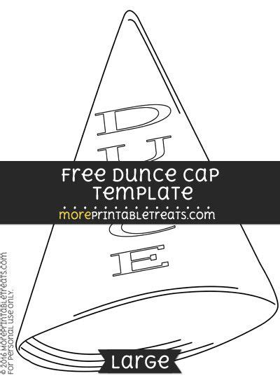dunce hat template free dunce cap template large shapes and templates