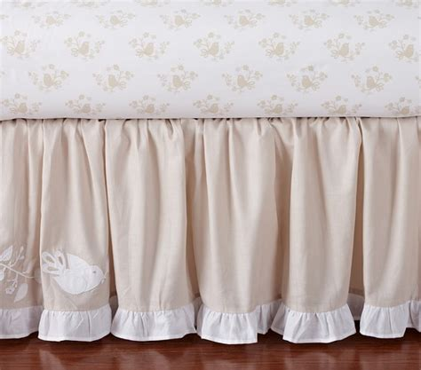 Khaki Crib Skirt by Crib Skirt Pottery Barn