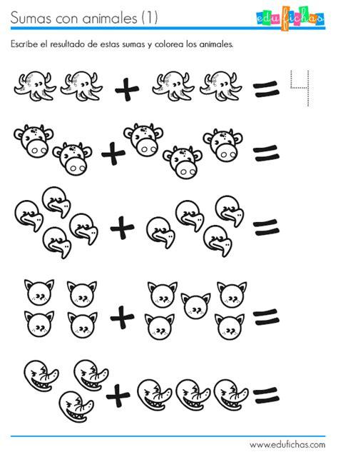 imagenes de actividades matematicas 5 fichas para aprender a contar y sumar fichas para