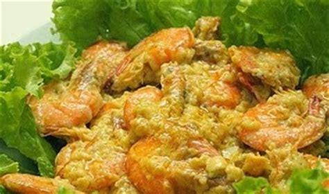 cara membuat udang telur asin resep masakan indonesia udang masak telur asin