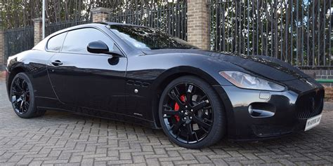 midnight blue maserati the maserati granturismo super car hire