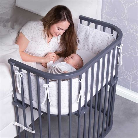 bedside cribs for babies the deep walnut babybay 174 bedside sleeper is a co sleeper