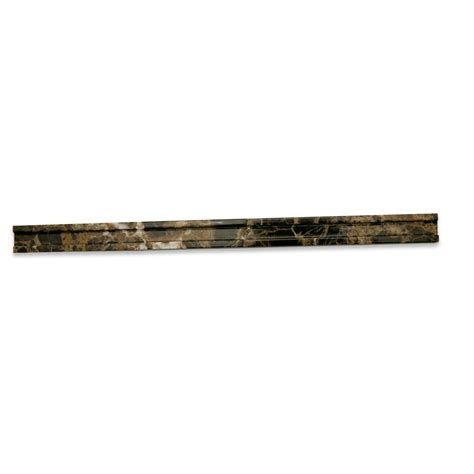 shop 3 4 x 12 groove pencil polished marble tile liner in