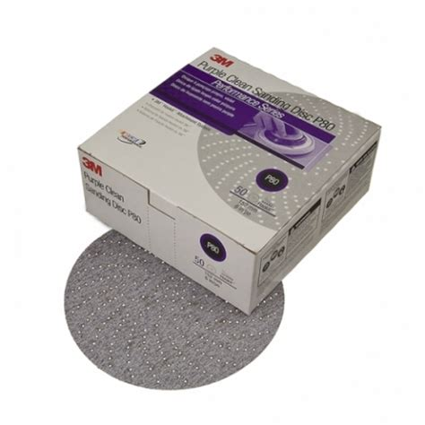 3m 01811 purple clean sanding hookit disc, 6 inch, p400c