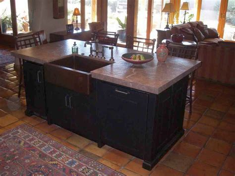 20 designs of kitchen island with sink