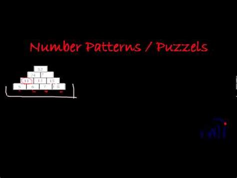 number pattern youtube number patterns and puzzle for kids std 1 4 numbers
