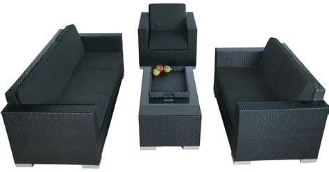 loungeset zwart deze comfortabele lounge set bestaat uit een lounge bank 3