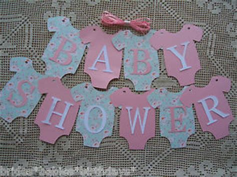 Bunting Flag Diy Banner Baby Shower Banner Bridal Shower Banner Req 10 bunting flags banners garland onesies baby shower pink mint green diy ebay