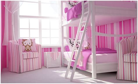hello kitty bedroom pictures pink white hello kitty girls bedroom interior design ideas