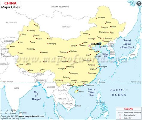 map of china cities map showing location of all major cities in china maps
