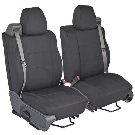 I Cover F by Front Pair Custom Fit Charcoal Gray Cloth Seat Covers