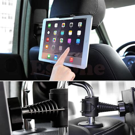 New Car Mount Headrest Bracket For Transformericoniaipadgalaxytab new universal back 360 degree rotation adjustable car seat headrest mount holder stand for