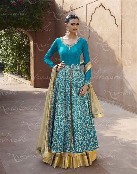 design your clothes online india buy indian lengha anarkali online gold and turquoise