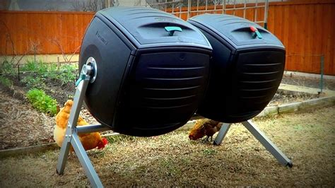 best backyard composter composting with the lifetime dual compost tumbler to