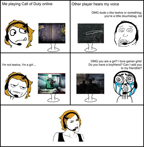 Gamer Girls Meme - the agony of being a gamer girl meme by madameleoni