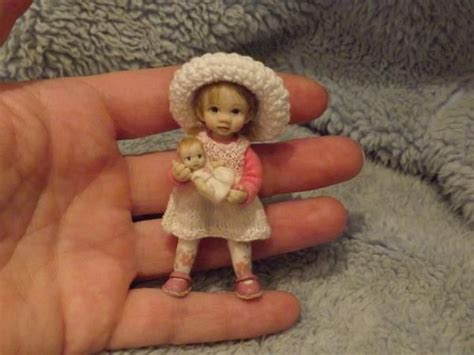 toddlers dolls house miniature handmade mini girl toddler child ooak dollhouse art doll house artist