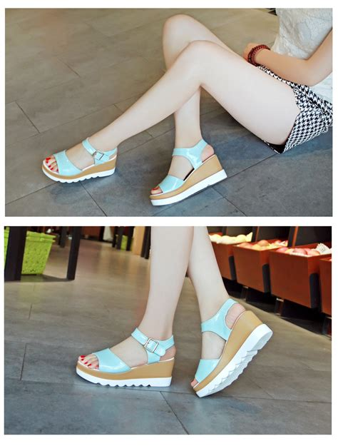 High Heels Import Gea49177bk summer leopard peep toe wedge heels sandal high platform zipper shoes ebay