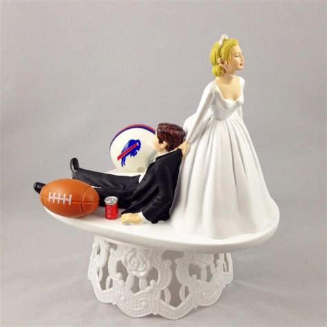 Handmade And Groom Cake Toppers - wedding cake topper football themed buffalo bills